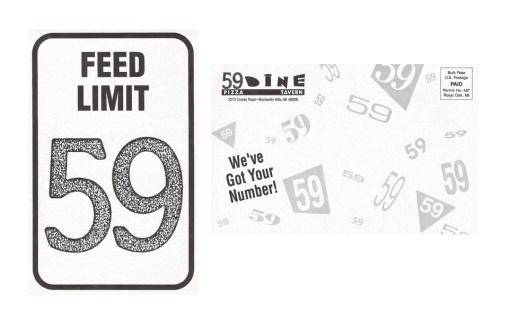 59 Dine Direct Marketing Mailer Design (Front & Back) by Circle R Brands