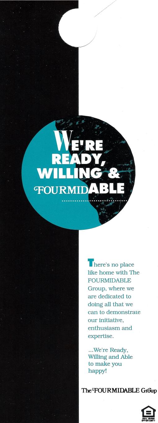 The Fourmidable Group Direct Marketing Door Hangar Design by Circle R Brands