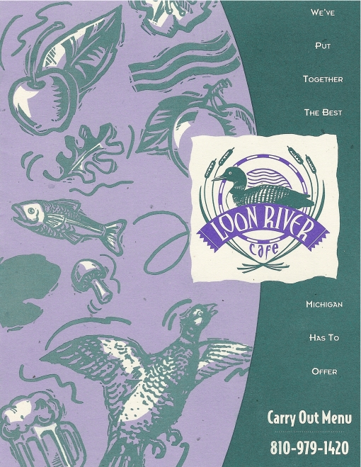 Loon River Cafe Menu and Carry-Out Menu Cover Design by Circle R Brands