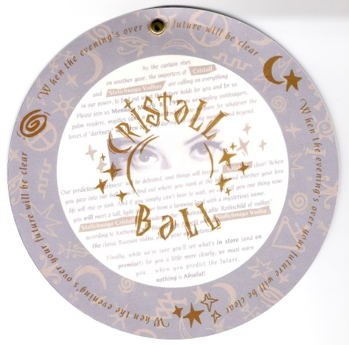 Stolichnaya Vodka   Stoli Crystal Ball Event   New Product Introduction Direct Marketing Mailer Design by Circle R Brands