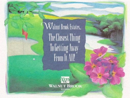 "Walnut Brook Estates ""Getting Away From It All"" Direct Marketing Mailer Design by Circle R Brands"